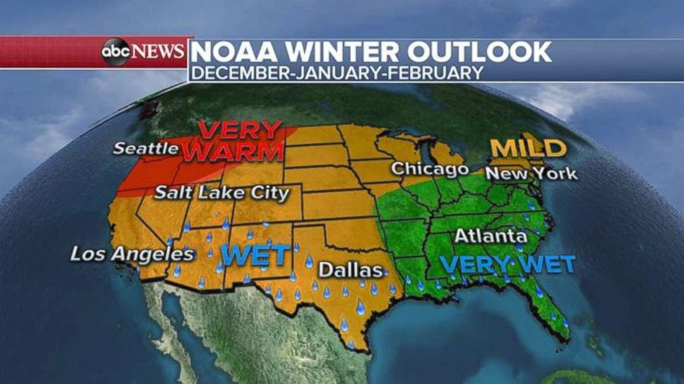 Forecasters unveil weather outlook for upcoming winter across US ...