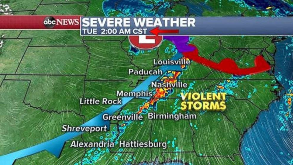 PHOTO: Severe weather is expected ahead of Election Day.
