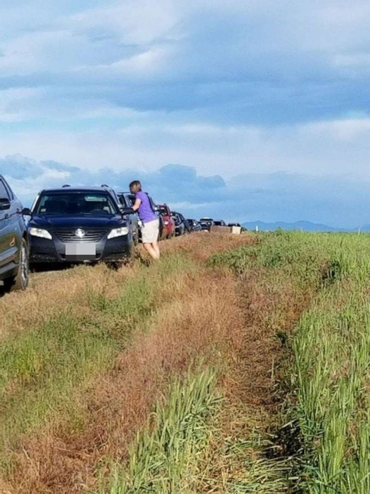 PHOTO: Dozens of Colorado drivers who followed a Google Maps detour found themselves in a muddy traffic jam on June 23, 2019.