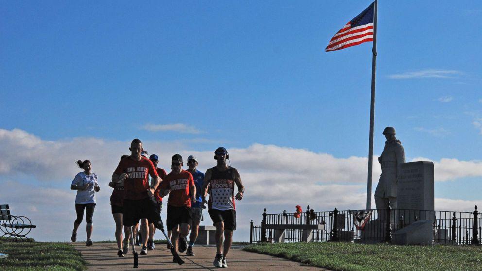 Rob Jones running on Castle Island in Massachusetts on October 15th, 2017.