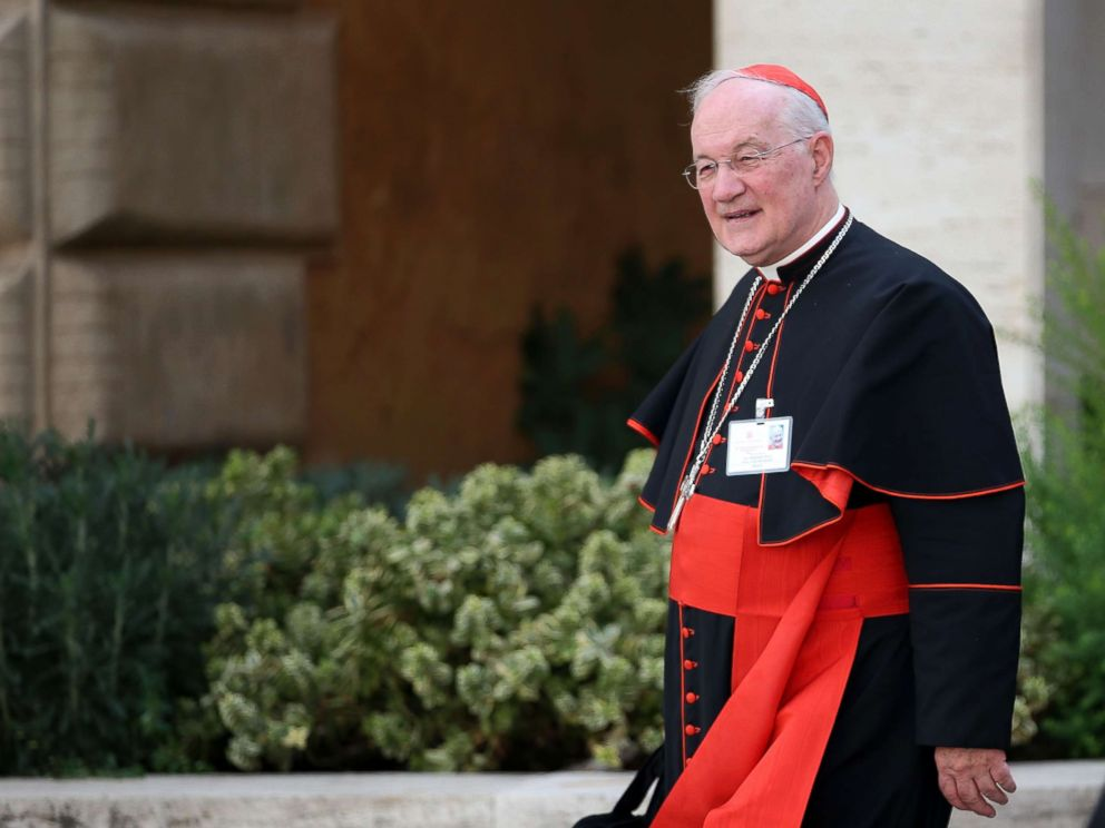 PHOTO: Cardinal Marc Ouellet leaves the opening session of the Synod on the themes of family at Synod Hall on Oct. 5, 2015 in Vatican City, Vatican.