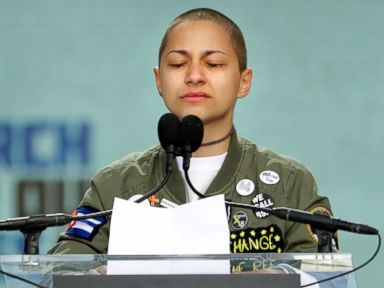 Emma Gonzalez brings March for Our Lives rally to an emotional silence