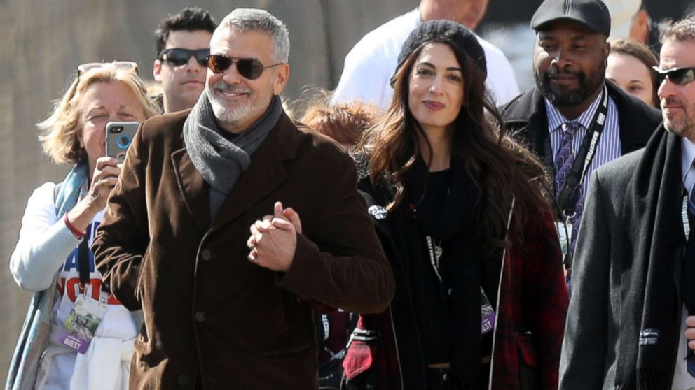 George and Amal Clooney step out at March for Our Lives in