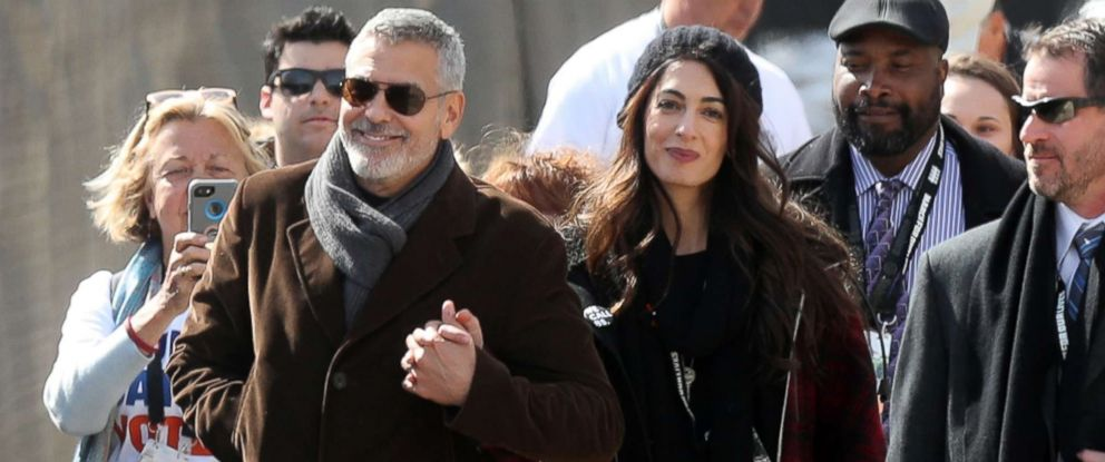 PHOTO: GGeorge Clooney and Amal Clooney show their solidarity with student protesters at March For Our Lives rally in Washington D.C., March 24, 2018.