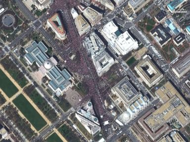 DC's March for Our Lives rally seen from space