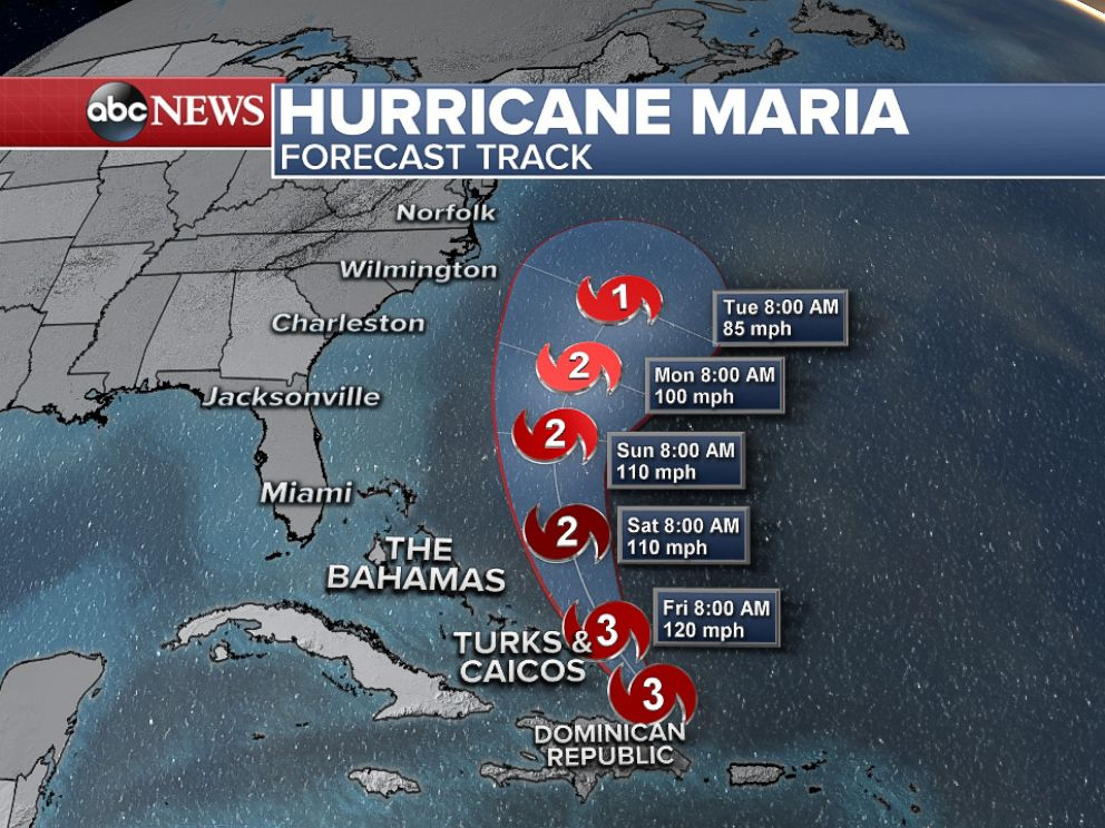 PHOTO: Hurricane Maria is forecast to weaken and steer clear of the U.S. mainland.