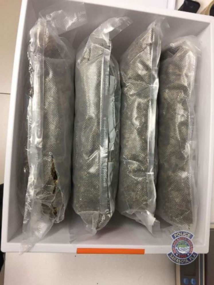 The Sarasota Police Department is investigating after almost 5 pounds of marijuana was found in a duffel bag donated to a thrift shop.