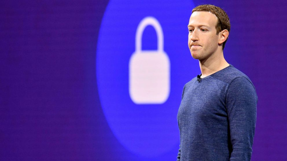 File photo from May 1, 2018 pf Facebook CEO Mark Zuckerberg speaking during the annual F8 summit at the San Jose McEnery Convention Center in San Jose, Calif.