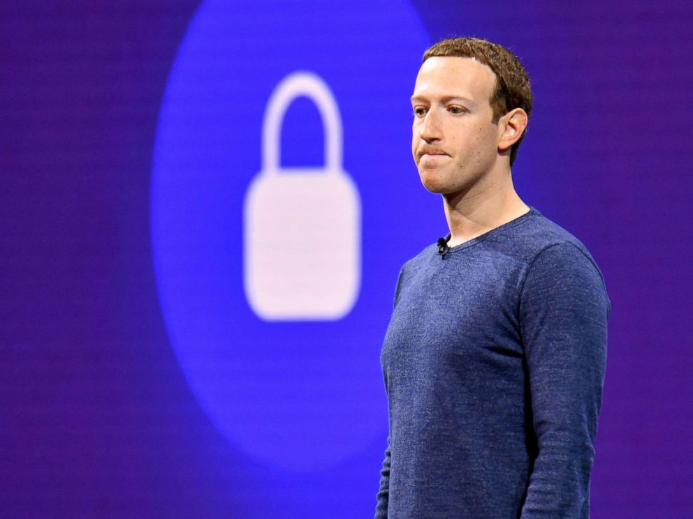 PHOTO: File photo from May 1, 2018 pf Facebook CEO Mark Zuckerberg speaking during the annual F8 summit at the San Jose McEnery Convention Center in San Jose, Calif.