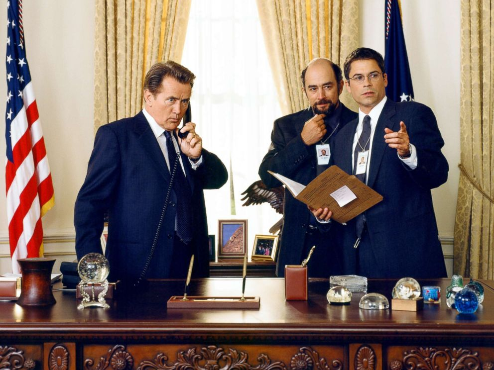 PHOTO: Martin Sheen, Left, With Richard Schiff And Rob Lowe In A Scene