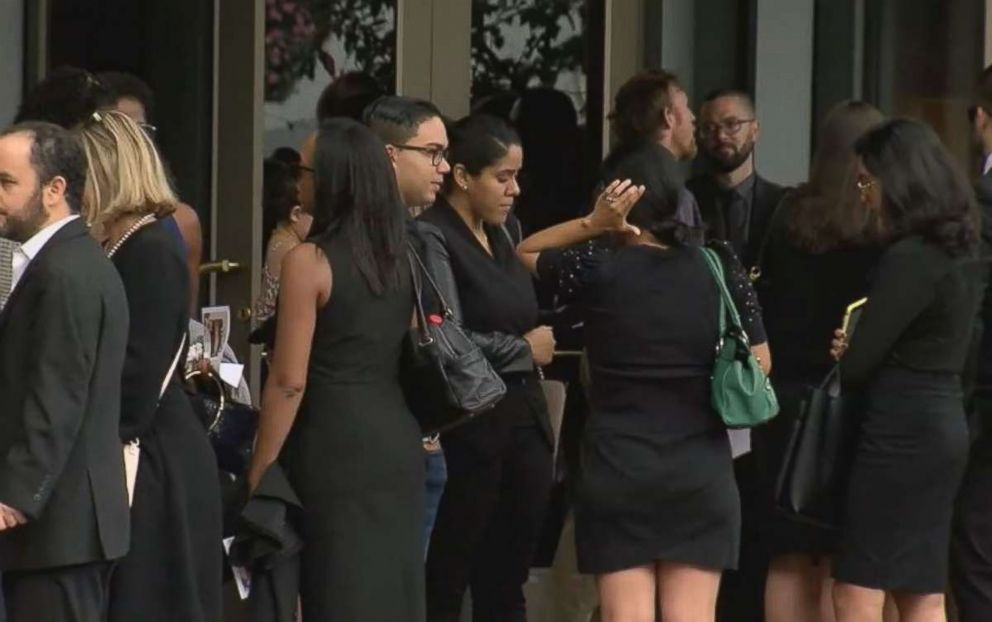 PHOTO: Mourners gather at a memorial service Saturday, Sept. 22, 2018, in Washington, D.C., for Wendy Martinez, who was stabbed to death while jogging.