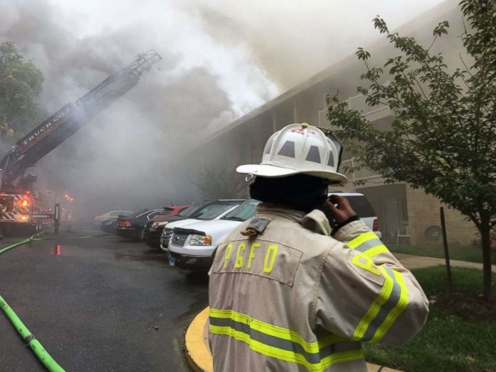 PHOTO: Authorities believe a woman arguing with her boyfriend was responsible for a fire that caused millions in damages in New Carrollton, Md., on Monday, Sept. 17, 2018.