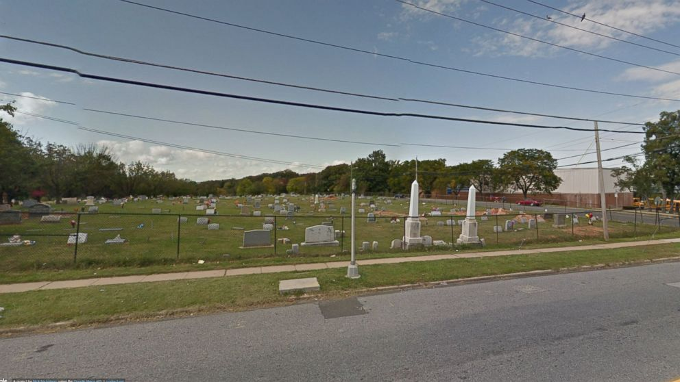 Mt. Zion Cemetery in Landsdowne, Maryland is pictured in this Google Maps image.