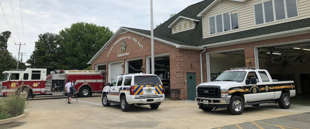 PHOTO: Authorities in Queen Annes County, Md., spent the afternoon searching for two men whose helicopter crashed in Chesapeake Bay on Saturday, May 4, 2019.