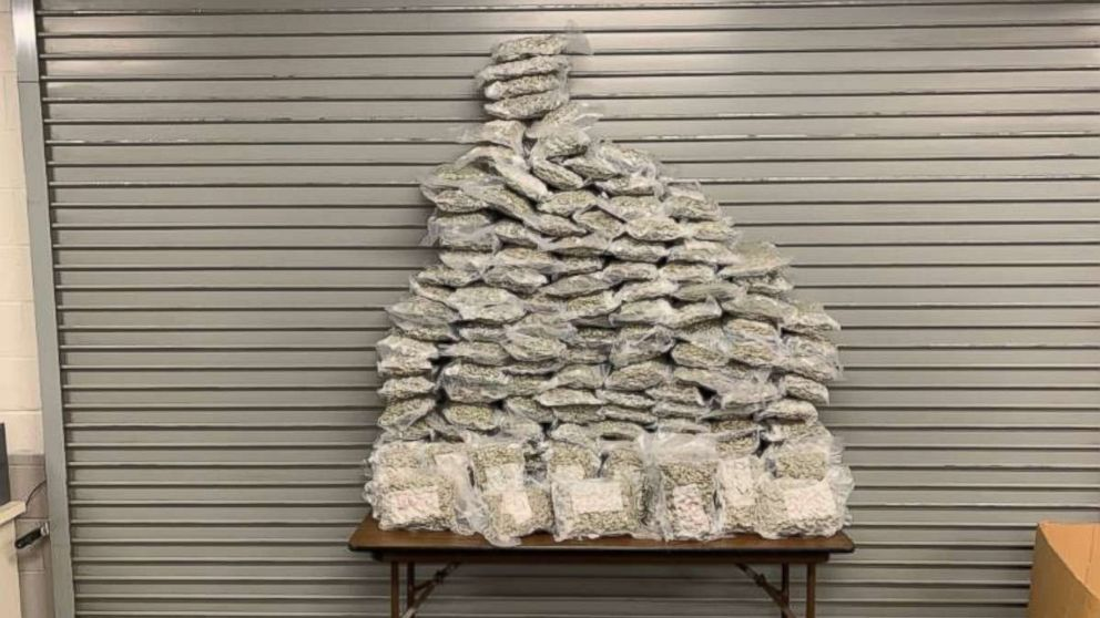 Metro Nashville Police found 159 pounds of marijuana in four suitcases at Nashville International Airport on Tuesday, Jan. 15, 2019. Two men were arrested on felony charges.