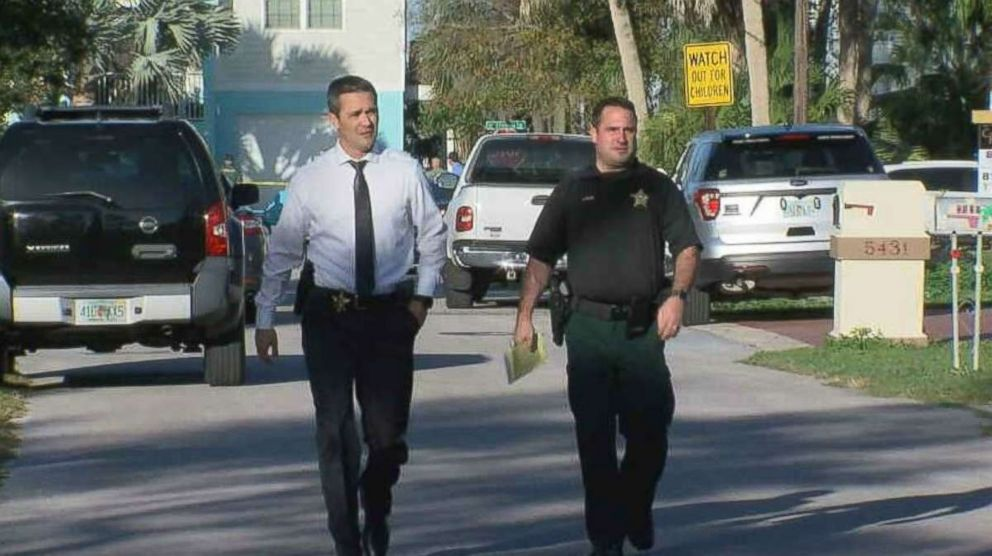 Police surrounded the home of Port Richey, Florida, Mayor Dale Massad after he allegedly shot at officers serving him a warrant on Thursday, Feb. 21, 2019. No one was injured.