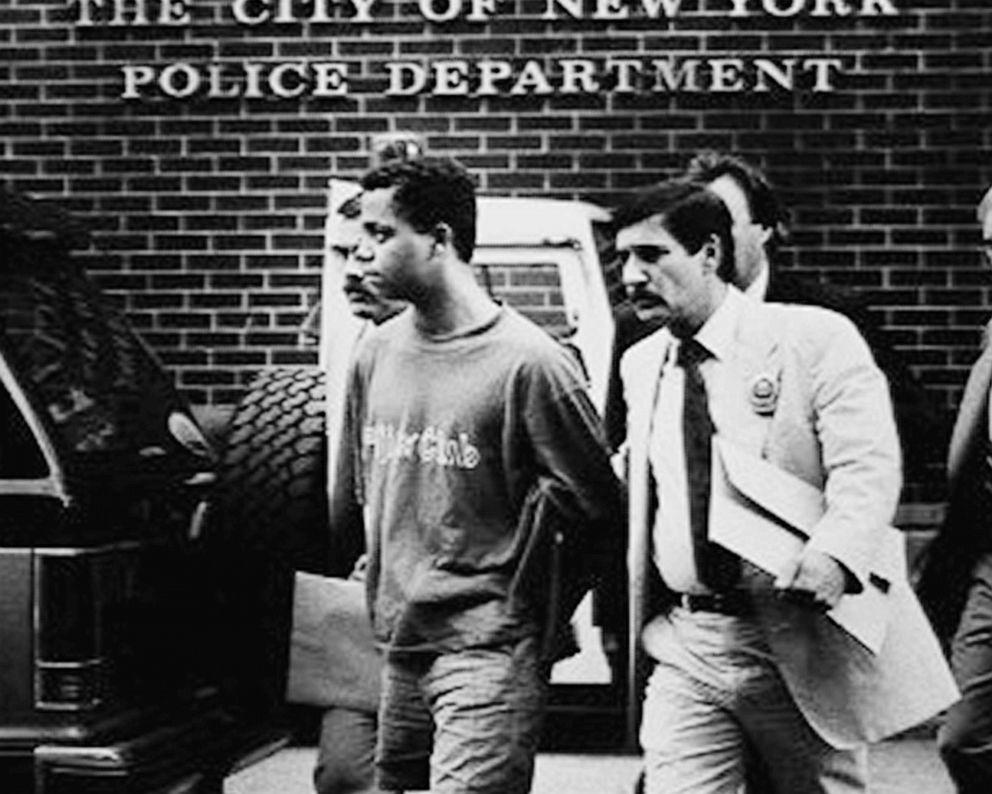 PHOTO: Matias Reyes is taken by detectives from the W. 82d St. station for booking in this Aug. 6, 1989 file photo.