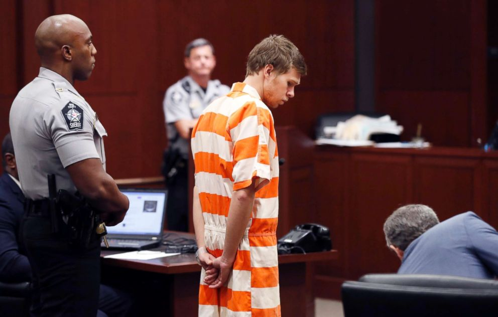 PHOTO: Matthew Phelps stands in the courtroom during his first appearance, Sept. 5, 2017, in Raleigh, N.C.