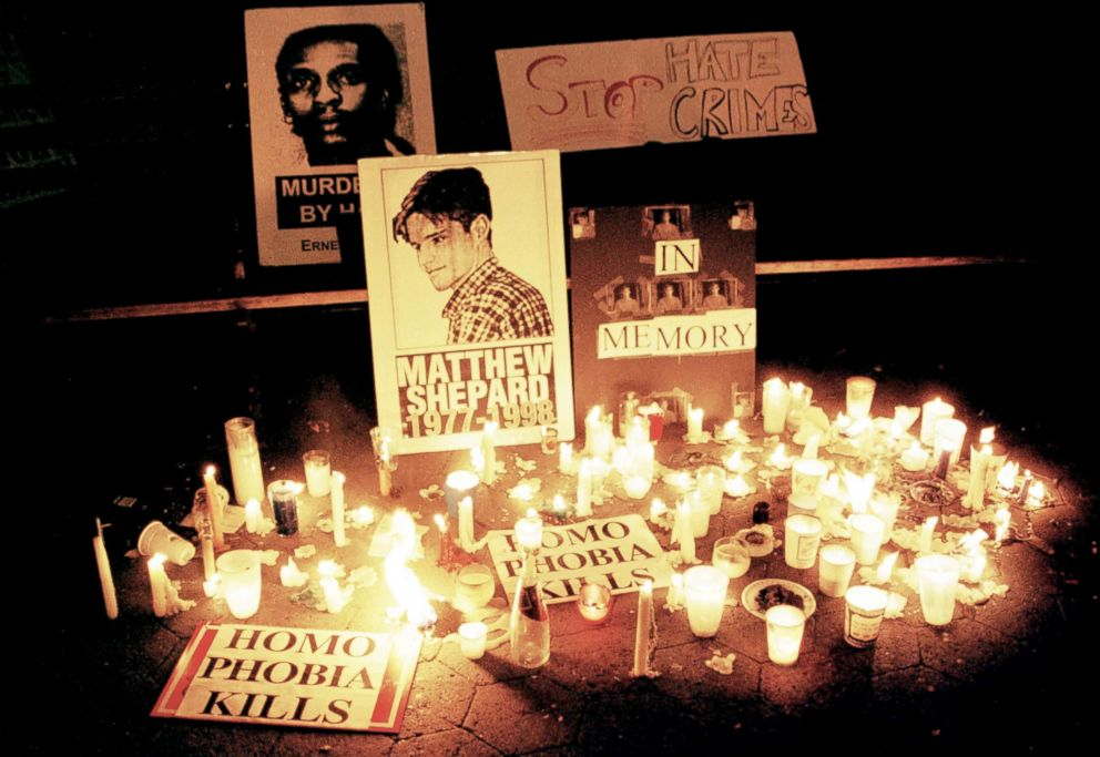 PHOTO: A candlelight vigil is held for Slain gay Wyoming student Matthew Shepard, Oct. 19, 1998.