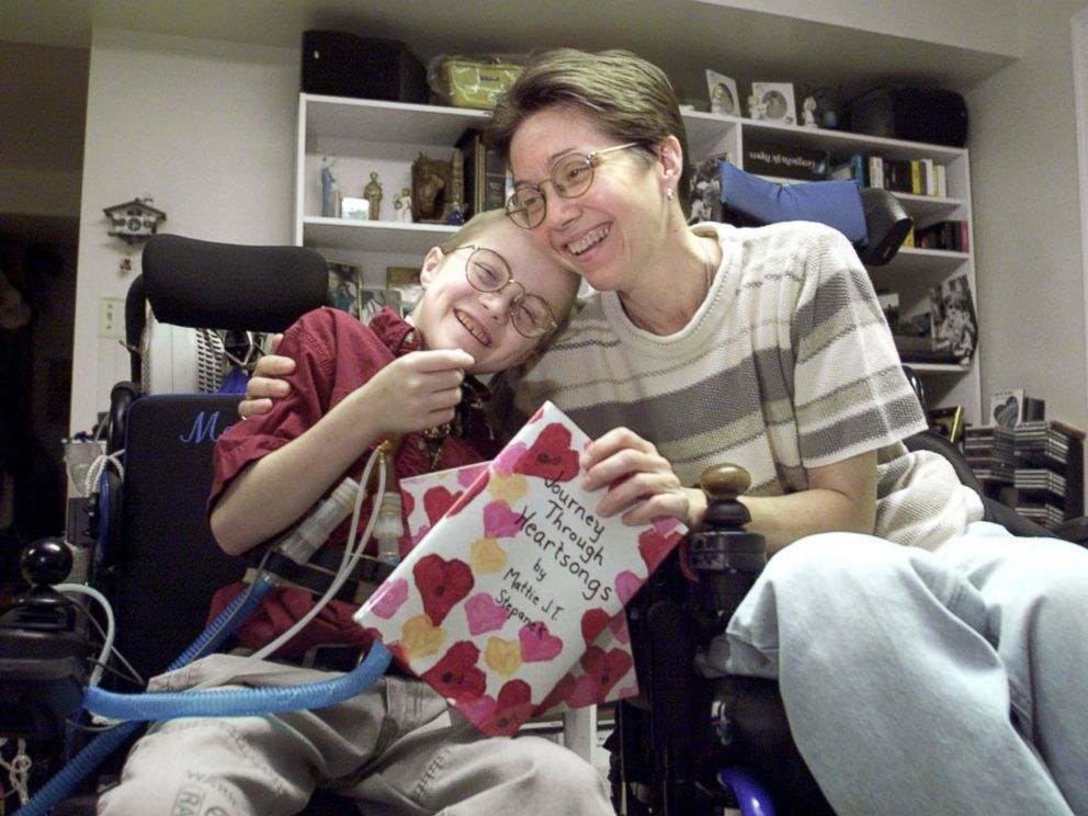 PHOTO: Mattie Stepanek, 11, and his mother, Jeni, are shown at their home in Upper Marlboro, Md., Nov. 5, 2001.