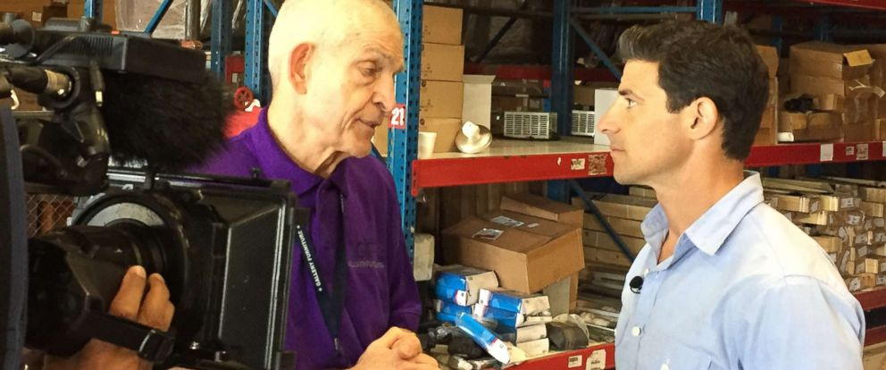 PHOTO: Jim McIngvale shares his story with ABC News about opening his doors to Harvey evacuees.