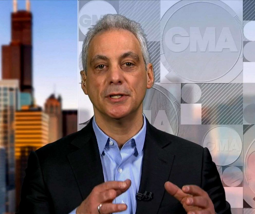 PHOTO: Chicago Mayor Rahm Emanuel appears on Good Morning America, March 27, 2019.