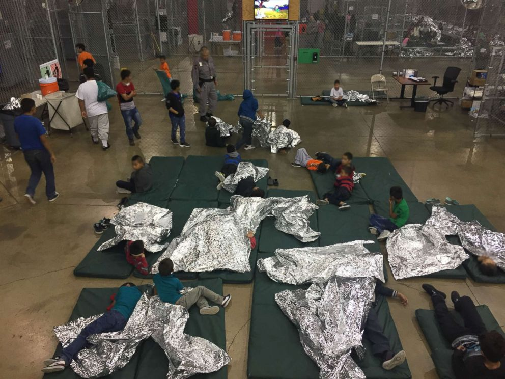 Customs and Border Patrol released new pictures from inside the centralized processing center in McAllen, Texas, on Sunday, June 17, 2018.