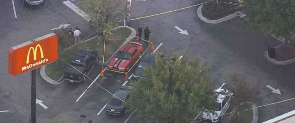 """PHOTO: Tampa police are """"optimistic"""" that a tip that led them to a McDonalds to investigate a person with a gun is connected to the recent string of murders in the citys Seminole Heights neighborhood."""