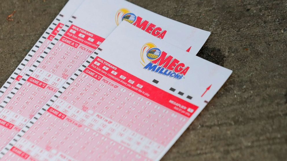 Mega Millions lottery entry tickets are seen in New York, Oct. 23, 2018.