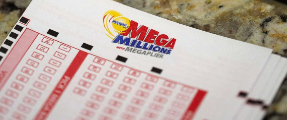 PHOTO: Mega Millions Lottery forms are pictured at Teds State Line Mobil in Methuen, Mass., July 24, 2018.