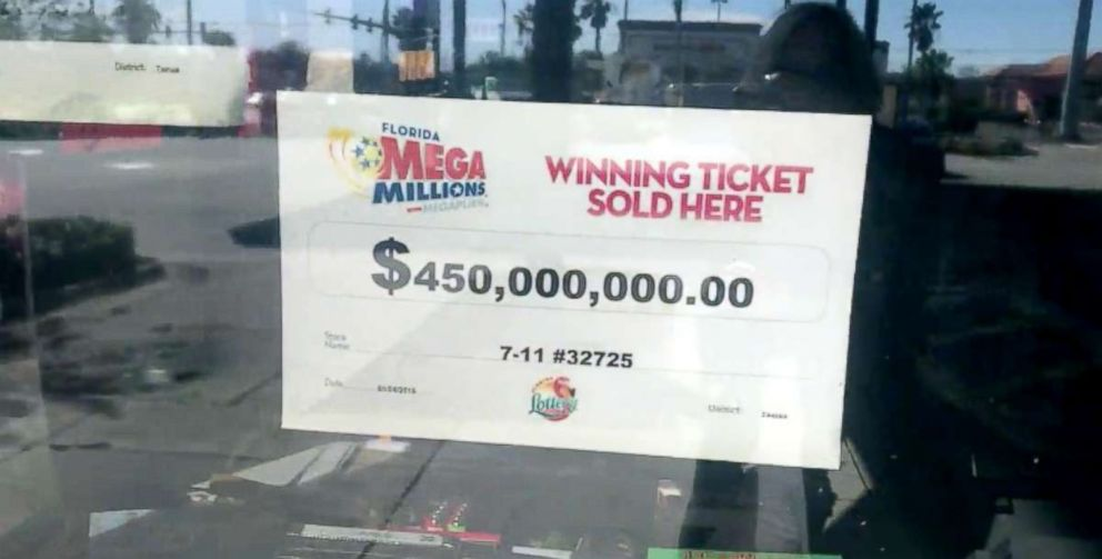 PHOTO: The winning ticket for the $450 Mega Millions jackpot was sold at a 7-Eleven in Port Richey, Florida.