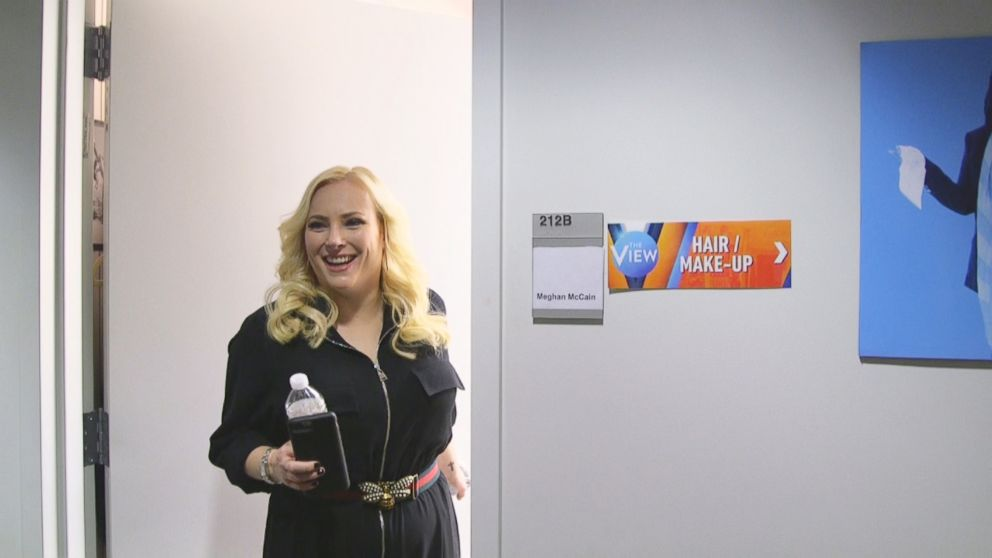 PHOTO: The View co-host Meghan McCain appears at her dressing room door.
