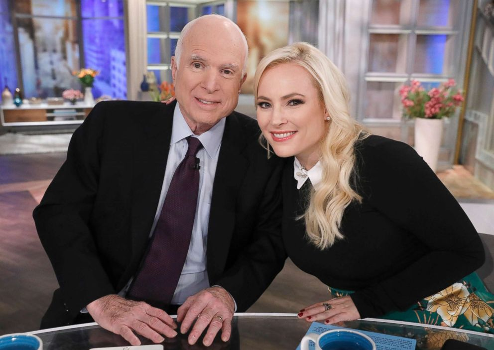 PHOTO: Senator John McCain made a special visit to The View, Oct. 23, 2017, for his daughter Meghan McCains birthday.