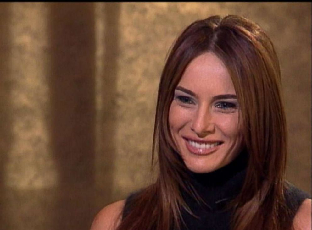 PHOTO: Melania Knauss, the future Melania Trump, smiles during a 1999 interview with ABC News correspondent Don Dahler.