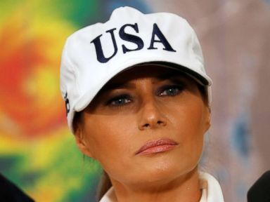 Plane carrying Melania Trump turns around after 'burning' smell reported on board