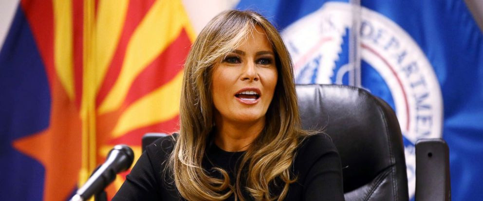 PHOTO: First lady Melania Trump participates in a discussion on border security at Tucson Sectoroffice of the U.S. Customs andBorderProtection.