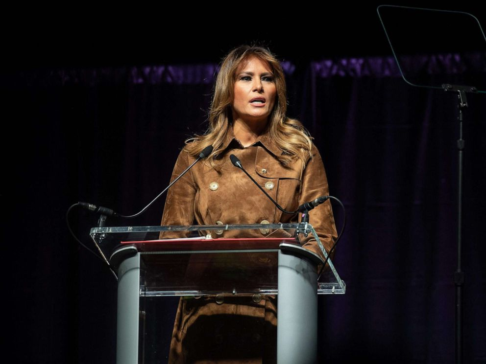 Melania Trump cheered and jeered by Baltimore students during speech