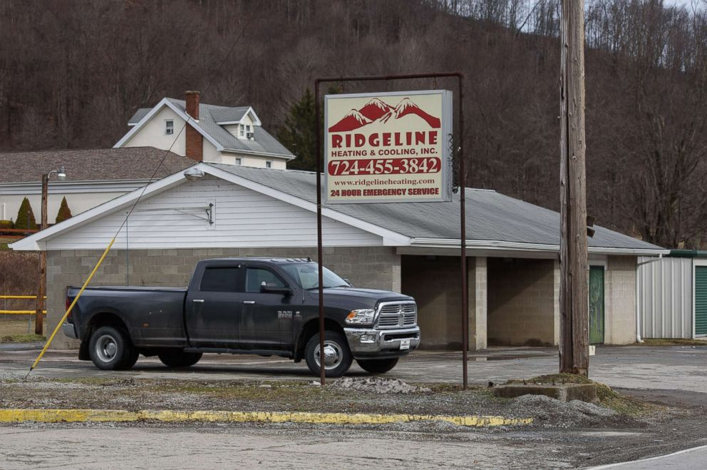 PHOTO: A truck sits near near Eds Car Wash where several people were found dead and one injured after a shooting, Jan. 28, 2018 in Melcroft, Pa.