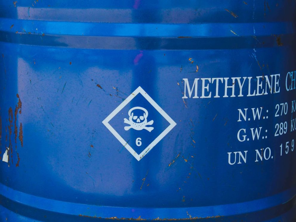PHOTO: A blue barrel of methylene chloride is pictured in an undated stock photo.