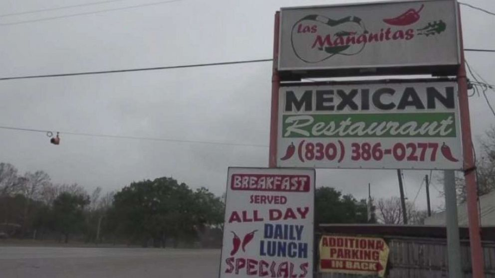 Workers at Las Mañanitas Mexican restaurant in Seguin, Texas, alerted police after Tony Albert walked in with a gun and surgical mask asking about the nearest church on Sunday, Dec. 30, 2018.