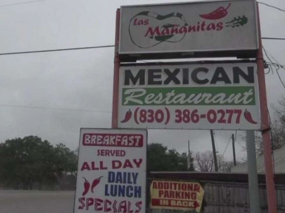 PHOTO: Workers at Las Mañanitas Mexican restaurant in Seguin, Texas, alerted police after Tony Albert walked in with a gun and surgical mask asking about the nearest church on Sunday, Dec. 30, 2018.
