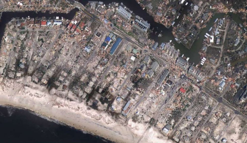 PHOTO: Mexico Beach, Fla., seen after Hurricane Michael, in this image released by NOAA.