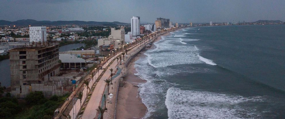 PHOTO: The coastline in Mazatlan in Sinaloa, Mexico, is pictured on Oct. 23, 2018, before the arrival of Hurricane Willa.