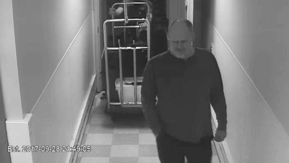Newly released video shows Stephen Paddock, who shot and killed 58 people in October 2017, in the hallway of the MGM Resorts.