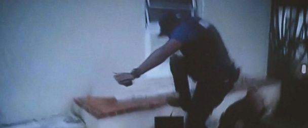 Miami cop shown on video kicking teenage girl robbery