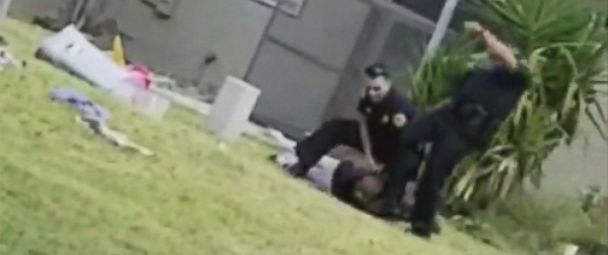 PHOTO: A Miami Police officer has been relieved of duty after video emerged of him appearing to kick as suspect in the head emerged on social media.