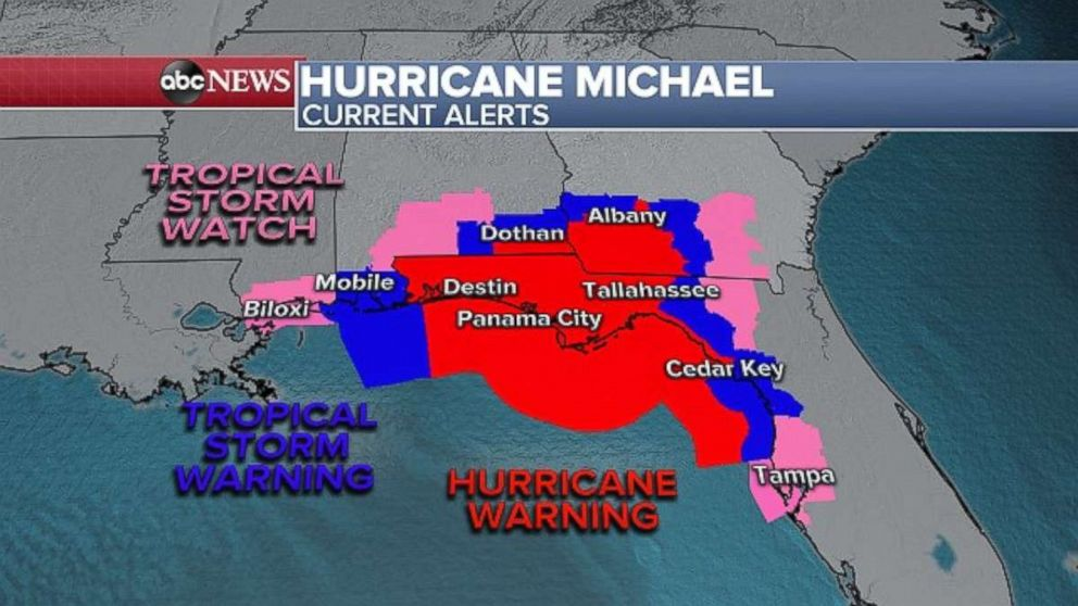 PHOTO: A hurricane warning is in effect for the Florida Panhandle and Big Bend.