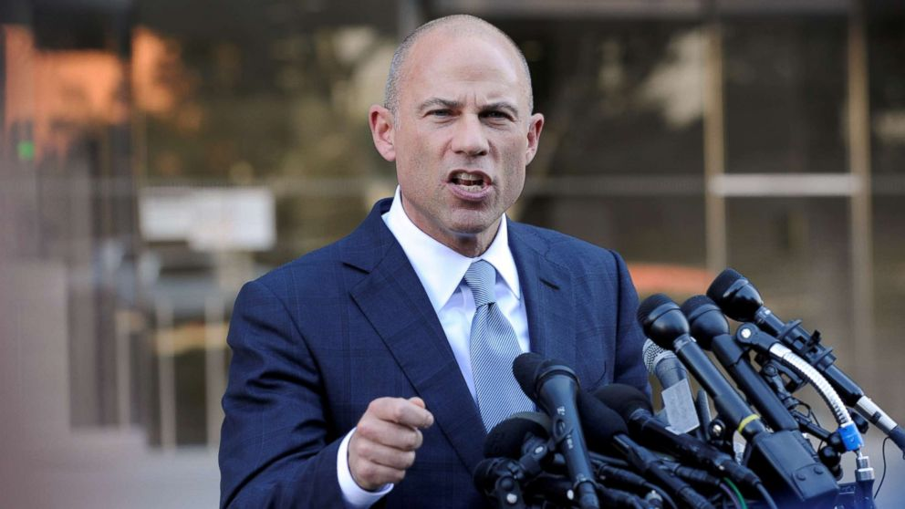 Michael Avenatti, lawyer for adult film actress Stormy Daniels, speaks to the media in Los Angeles, Sept. 24, 2018.