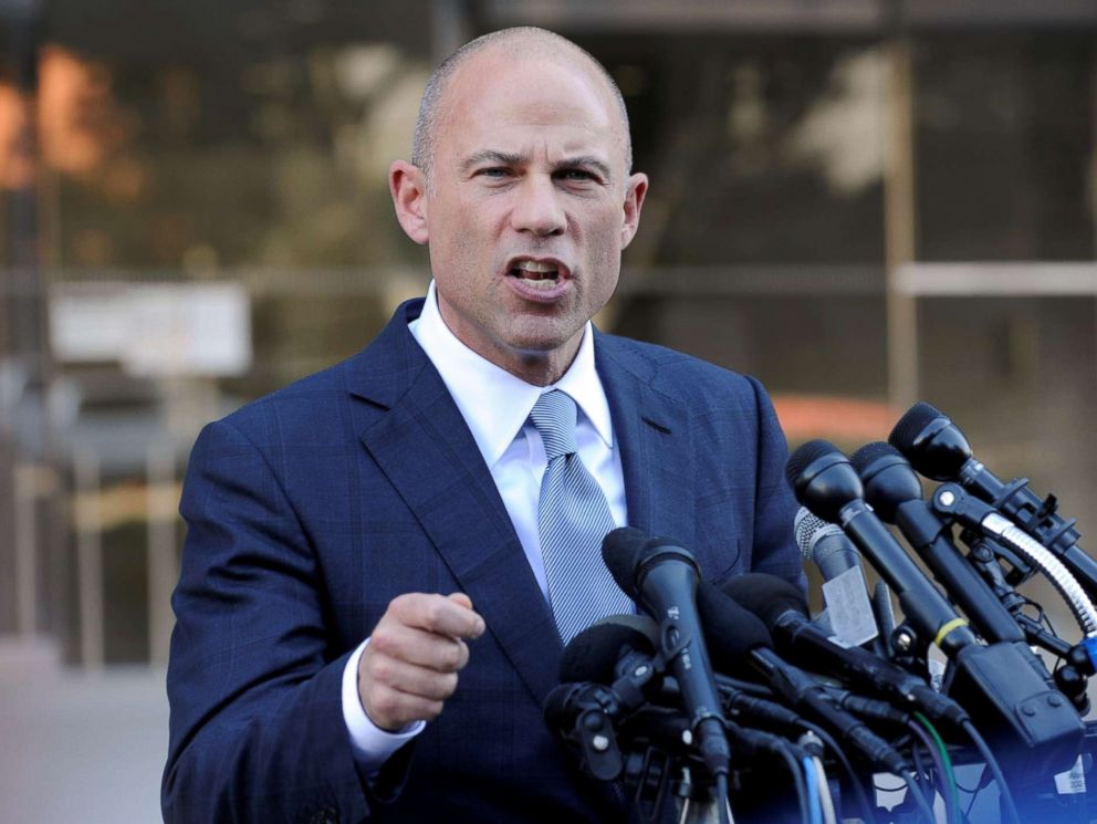 PHOTO: Michael Avenatti, lawyer for adult film actress Stormy Daniels, speaks to the media in Los Angeles, Sept. 24, 2018.