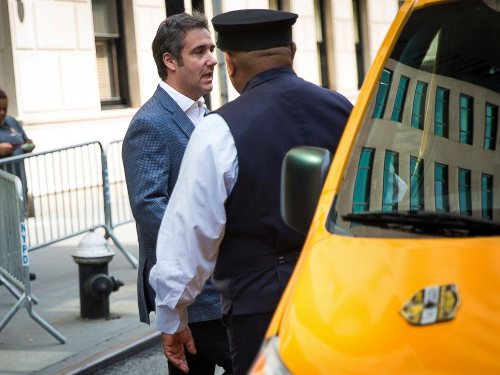 Michael Cohen, formerly a lawyer for President Trump, leaves his hotel Thursday, July 27, 2018, in New York.